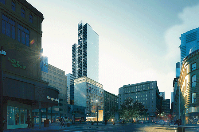 1 Square Philips : the highest residential tower in Montreal